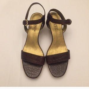 NWOT Franco Sarto Cork Wedge Sandals Size 8